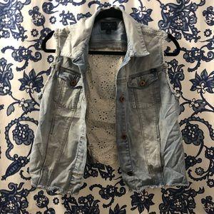 Lucky Brand Jackets & Coats - Lucky Lace Jean Vest